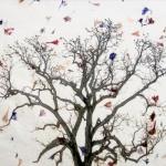 Tree, Birds, Petals